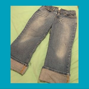 LUCKY BRAND Lowered Peanut Crop S:8/29 Gently used